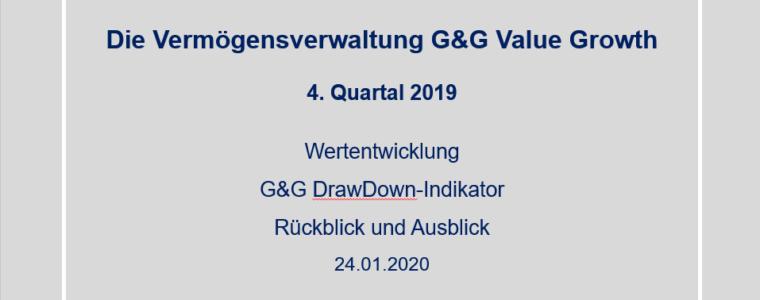 4. Quartal 2019 – Vermögensverwaltung G&G Value Growth